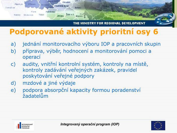 jednání monitorovacího výboru IOP a pracovních skupin