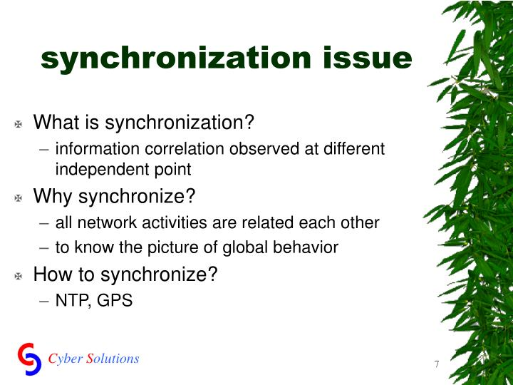 synchronization issue