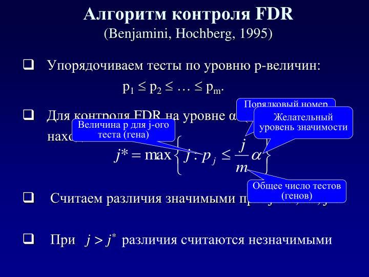 Алгоритм контроля
