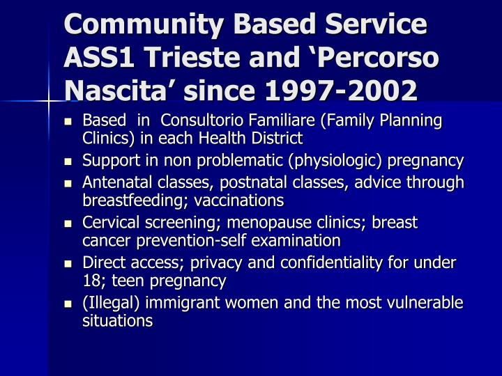 Community Based Service