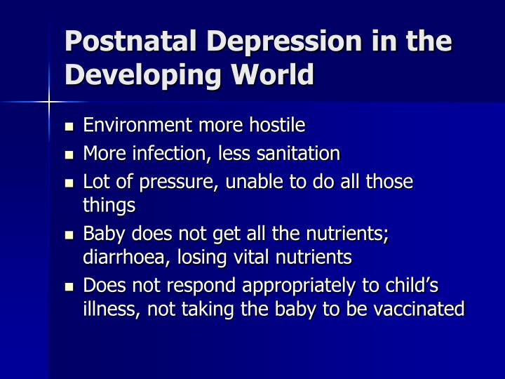 Postnatal Depression in the Developing World