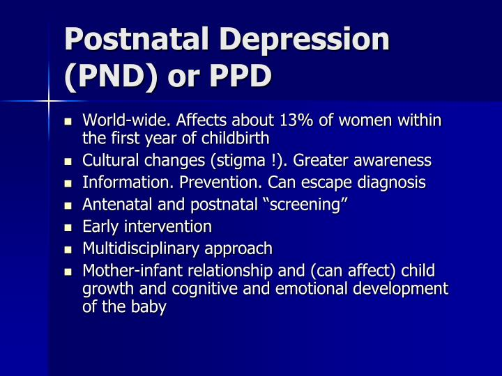 Postnatal depression pnd or ppd