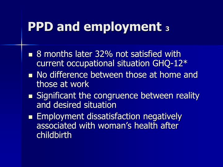 PPD and employment