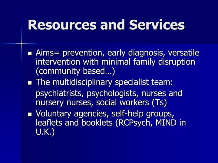 Resources and Services