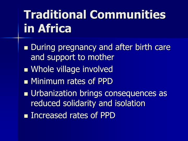 Traditional Communities in Africa
