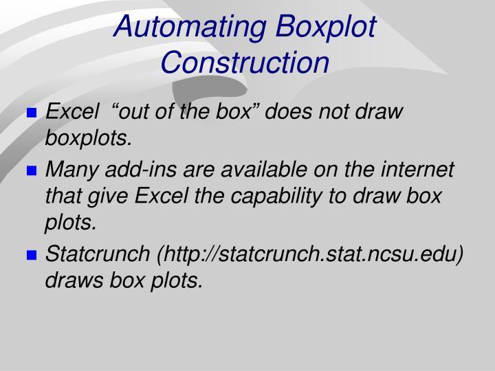 Automating Boxplot Construction