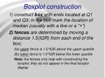 boxplot construction