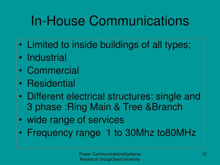In-House Communications