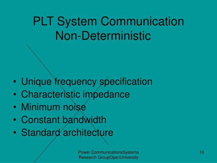 PLT System Communication