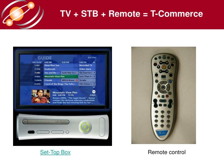 TV + STB + Remote = T-Commerce