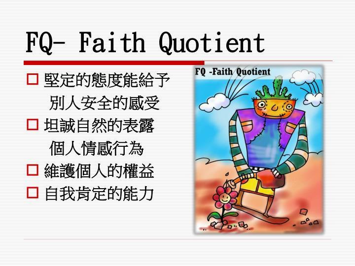 FQ- Faith Quotient