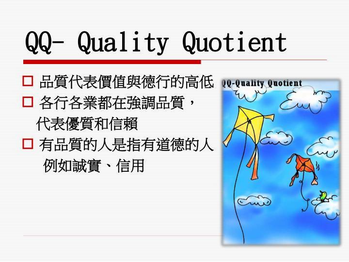 QQ- Quality Quotient