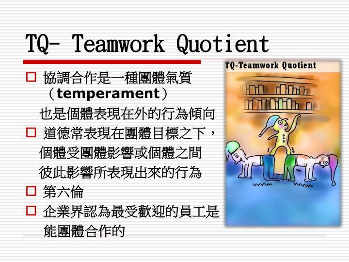 TQ- Teamwork Quotient