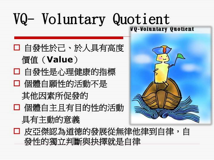 VQ- Voluntary Quotient