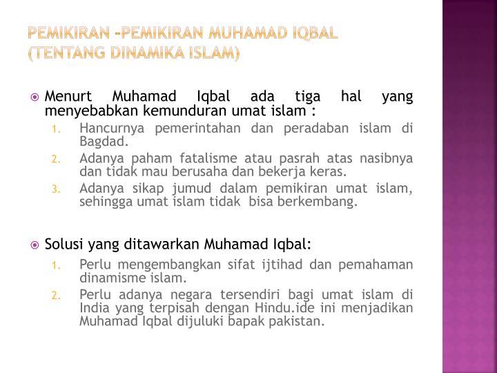 Pemikiran –pemikiran Muhamad Iqbal