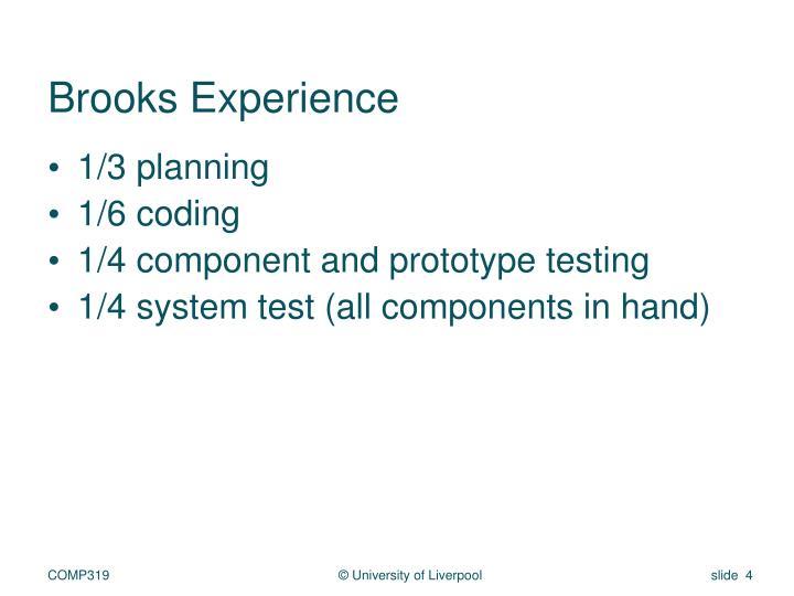 Brooks Experience