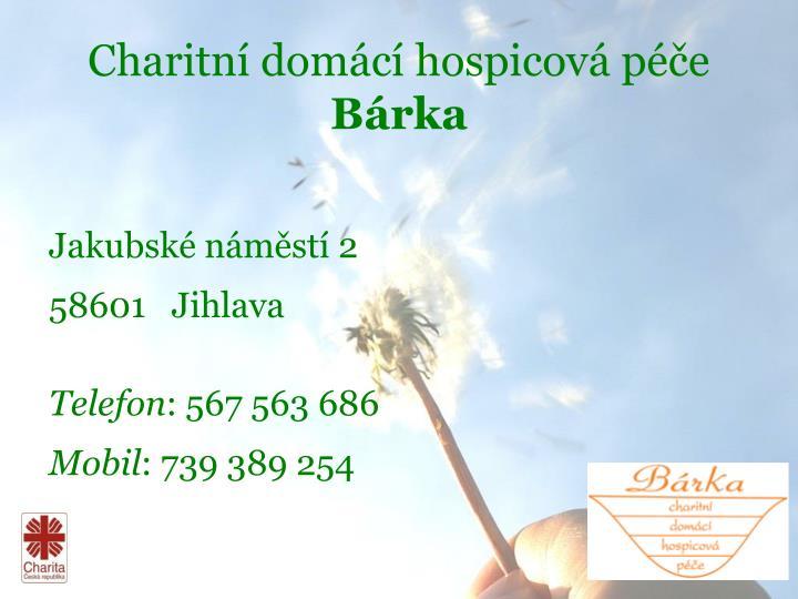 Charitní domácí hospicová péče