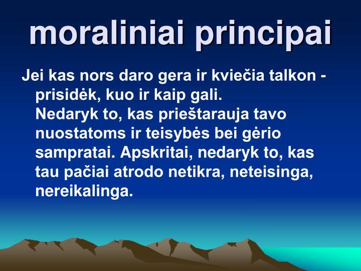moraliniai principai