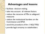 advantages and lessons