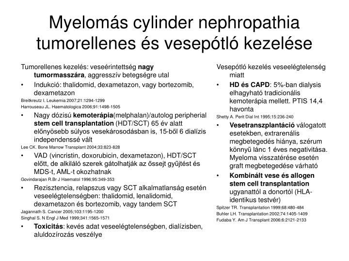 Tumorellenes kezelés: veseérintettség
