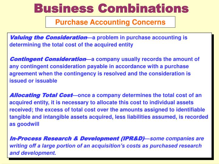 Business Combinations