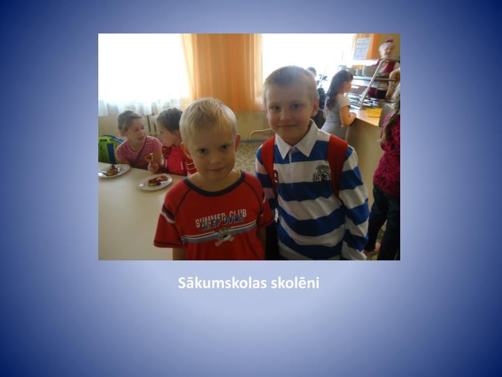 Sākumskolas skolēni