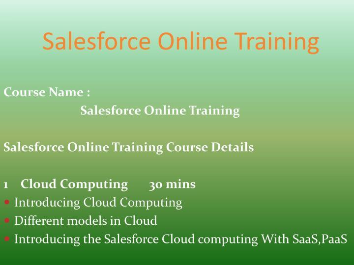 Salesforce Online