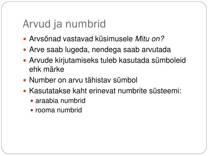 Arvud ja numbrid