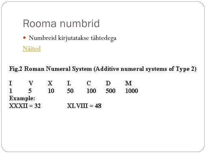 Rooma numbrid