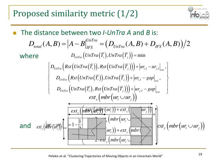 Proposed similarity metric (1/2)