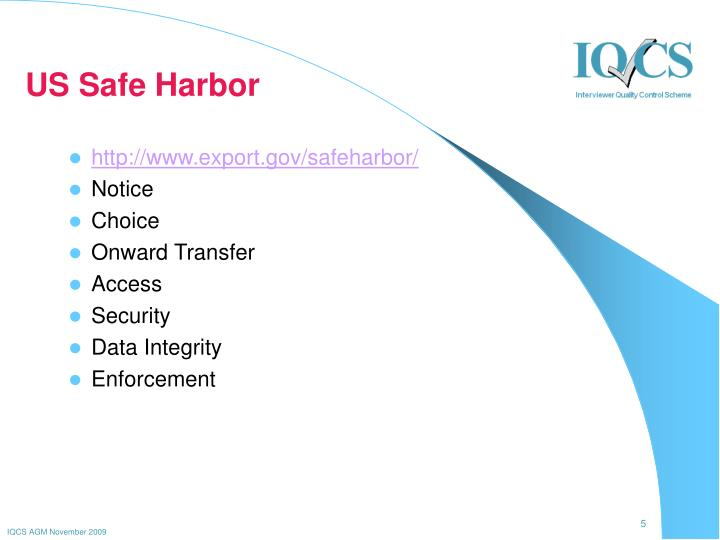 US Safe Harbor