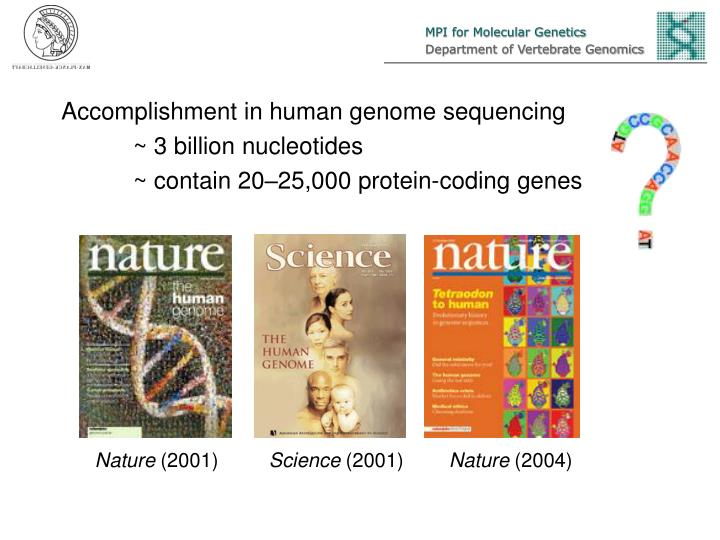 Accomplishment in human genome sequencing