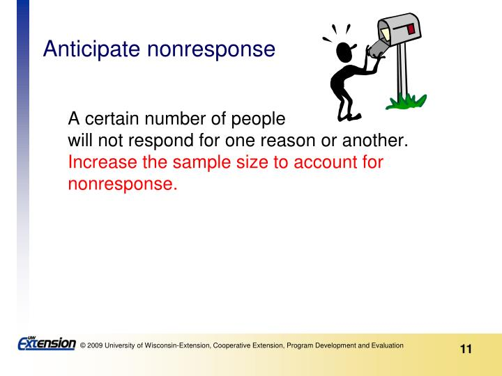 Anticipate nonresponse