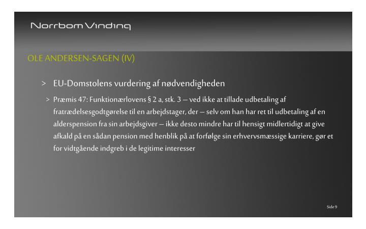 Ole Andersen-sagen (