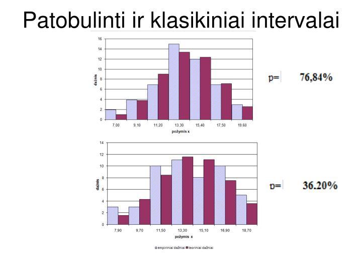 Patobulinti ir klasikiniai intervalai