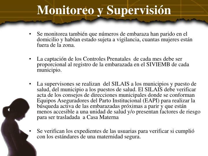Monitoreo y Supervisión