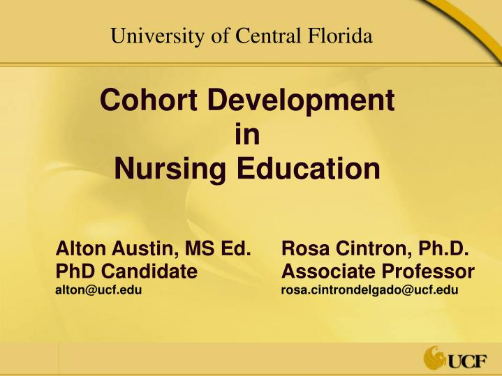 Cohort development in nursing education