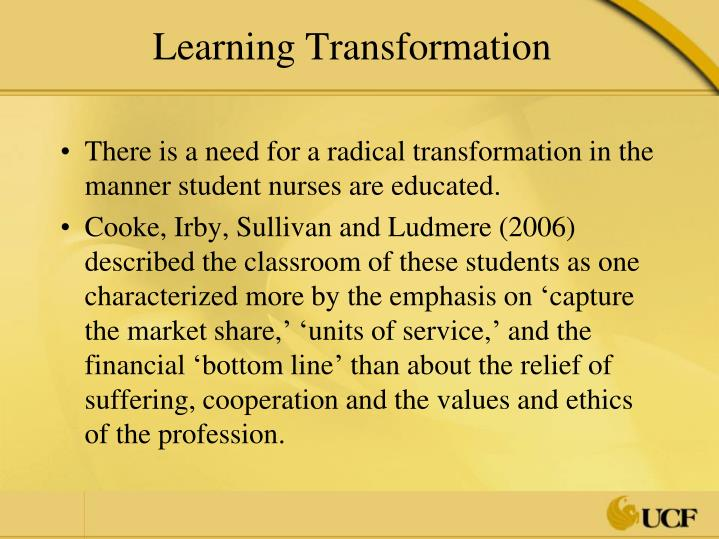 Learning Transformation
