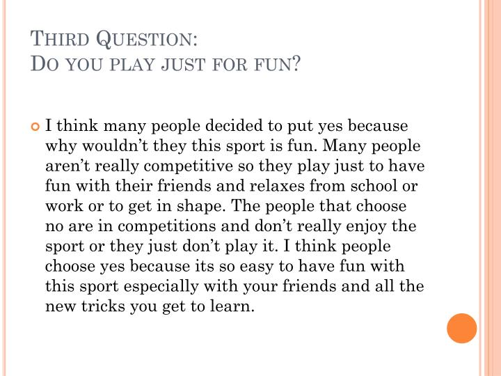 Third Question: