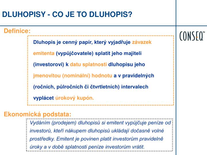 DLUHOPISY - CO JE TO DLUHOPIS?