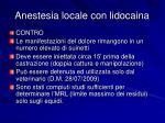 anestesia locale con lidocaina1