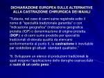 dichiarazione europea sulle alternative alla castrazione chirurgica dei maiali2