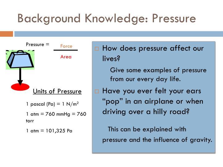 Background Knowledge: Pressure