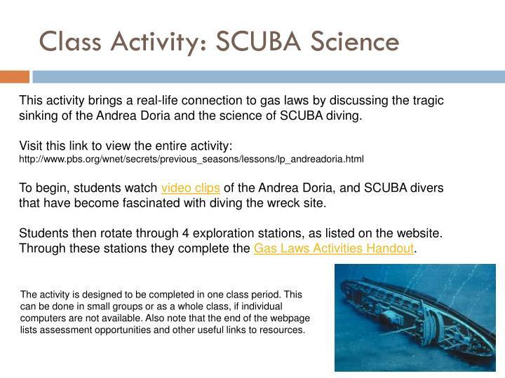 Class Activity: SCUBA Science