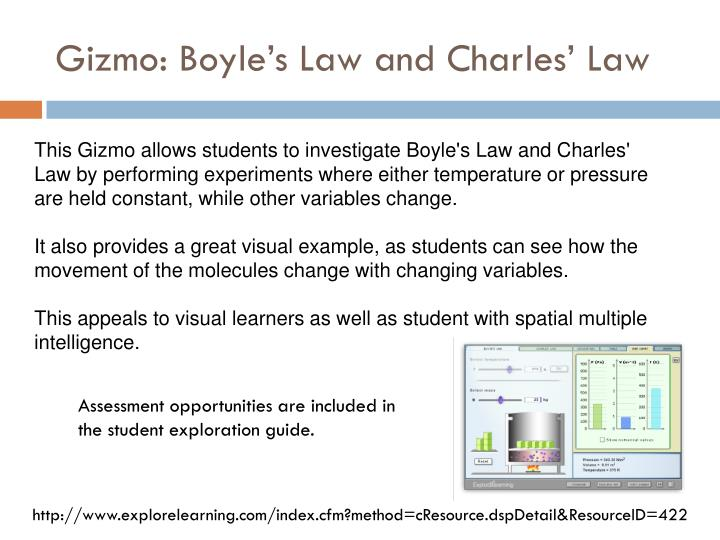 Gizmo: Boyle's Law and Charles' Law