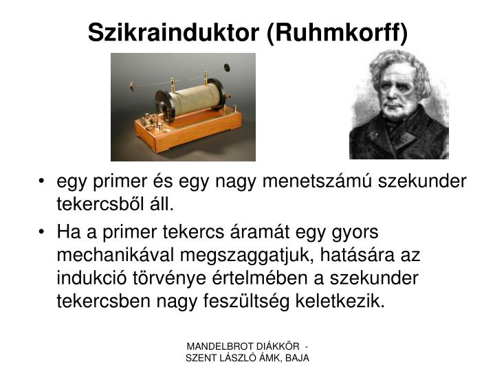 Szikrainduktor (Ruhmkorff)