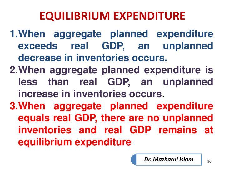 EQUILIBRIUM EXPENDITURE