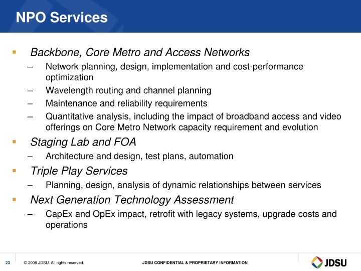 NPO Services