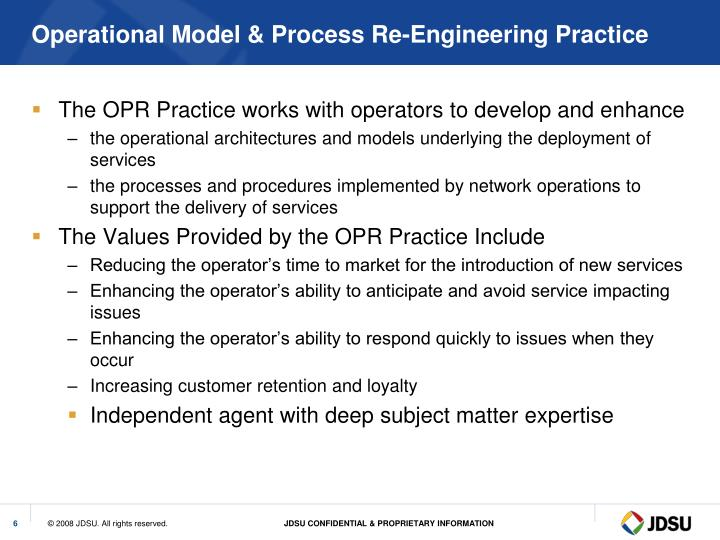 Operational Model & Process Re-Engineering Practice
