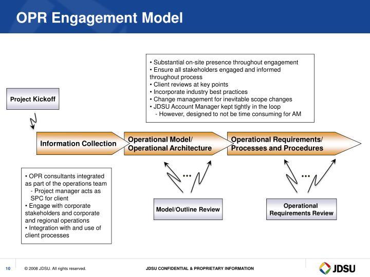 OPR Engagement Model